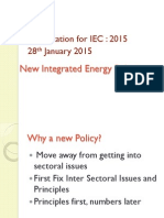 New Integrated Energy Policy