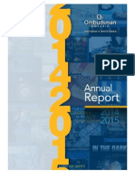 The Ontario ombudsman's annual report