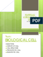 Portfolio- Biological Cell Prepared by 1st Year Mbbs Student-lekshmi
