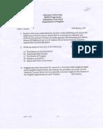 M.phil Adm Test 2013-2012
