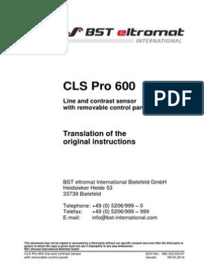 bst international ekr 500 manual