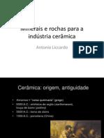 Minerais e Rochas Para Ceramica