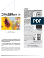 Dimage MasterLite Manual