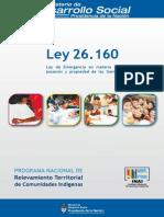Ley 26160  - Ley de tierras