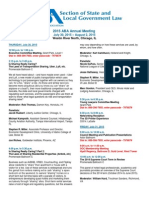 State and Local Gov't Law Section - 2015 Annual Meeting Schedule
