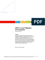 Unix to Linux Migration Whitepaper