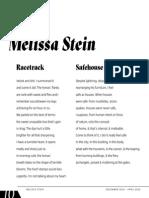 Poems by Melissa Stein