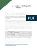 El Perú y Su Pobre Hábito Por La Lectura