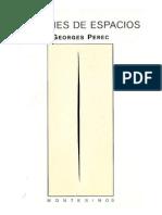 Perec Georges -Especies de Espacios