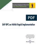 Sierra_DBPM - SAP BPC on HANA Rapid Implementation