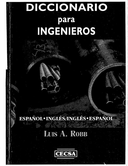 Diccionario para ingenieros fandeluxe Choice Image