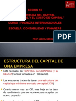 Sesion Xiii Estructura Del Capital Internacional y Costo Capital
