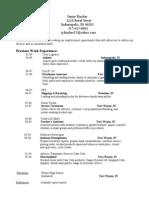Jobswire.com Resume of jcfincher25