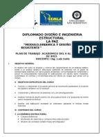 Plan de Trabajo Ing. j. Luis Soliz 2015