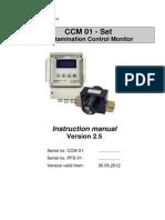 Instruction Manual - Eaton Internormen CCM 01 - Set Contamination Control Monitor, e, 2.5