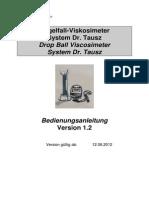 Instruction Manual - Eaton Internormen Drop Ball Viscosimeter System, V1.2