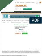 Costo de Ventas y Su Analisis Fiscal en La Contabilidad Electronica