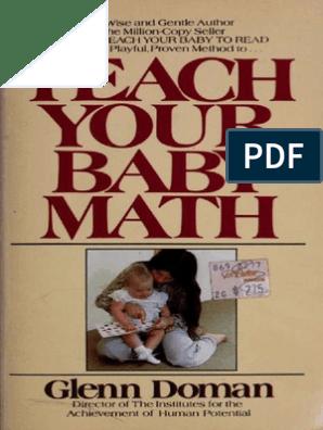 Teach Your Baby Math - Glenn Doman pdf | Toys | Curiosity