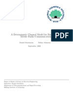 A Deterministic Channel Model for Simulation of Mobile Radio Communications Report