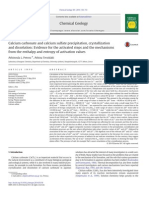 Calcium carbonate and calcium sulfate precipitation, crystallization and dissolution