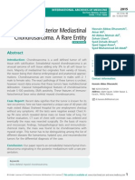 Posterior Mediastinal Chondrosarcoma. A Rare Entity