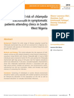 Prevalence and risk of chlamydia trachomatis in symptomatic patients attending clinics in South West Nigeria