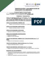 Requisitos campaña de Documentación