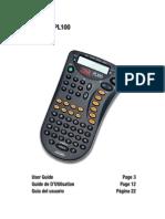 Manual Etiquetadora 3M PL100