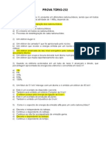 Prova Tório-232 (50) - Gabarito