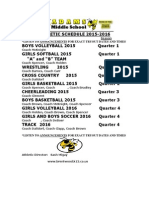 Ams Athletic Schedule Annual 2015-2016