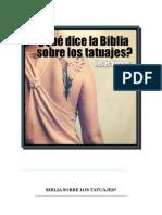 Que Dice La Biblia Sobre Los Tatuajes