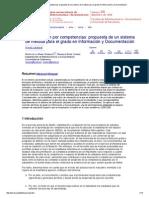 La Evaluación Por Competencias Propuesta de Un Sistema de Medida Para El Grado en Información y Documentación