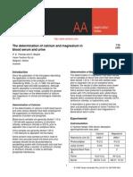 The determination of calcium and magnesium inblood serum and urine