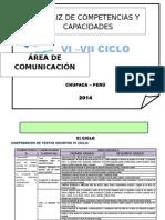 Matriz Competencias Capacidades Indicadores - Mónica2014