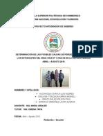 DETERMINACIÓN DE LAS POSIBLES CAUSAS DE PÉRDIDA DE SEMESTRE DE LOS ESTUDIANTES DEL SNNA CING 07 Y CING 08 DE LA ESPOCH PERÍODO ABRIL – AGOSTO 2015