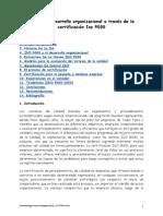 Calidad y Desarrollo Organizacional a Través de La Iso 9000