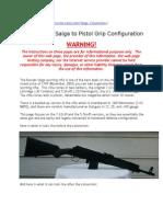 Converting a Saiga to Pistol Grip Configuration