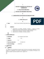 Guía de Laboratorio  (Proceso de Torneado)