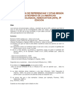 Elaboración de Citas y Referencias APA