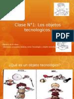 Clase N°1 LOS OBJETOS TECNOLOGICOS