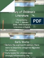 historyofchildrensliterature-091202082907-phpapp02