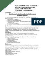 CUESTIONARIO PSIQUIATRIA.