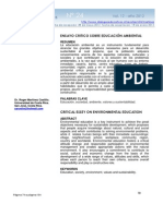 Ensayo Sobre Educacion Ambiental, Educación, sociedad, ambiente, valores y sustentabilidad