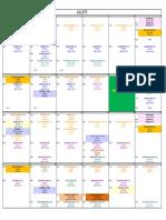 Training Calendar Jul