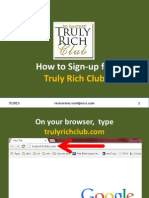 How to Signup for Truly Rich Club
