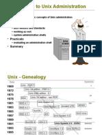 1 Introduction to Unixadmin