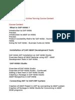 SAP ABAP On HANA Online Training