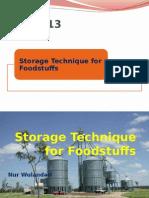 10. Storage Technique for Foodstuffs