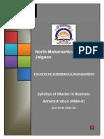 North Maharashshtra University Syllabus 2015-16  MBA - II