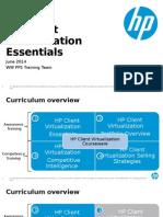 Client Virtualization Essentials Q3 14